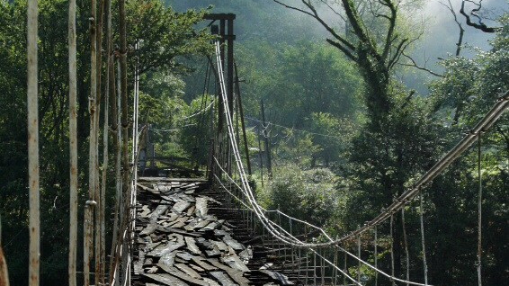 Very old suspension bridge
