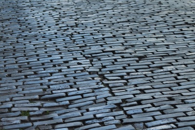 Paris Cobblestones Wet Symmetrical