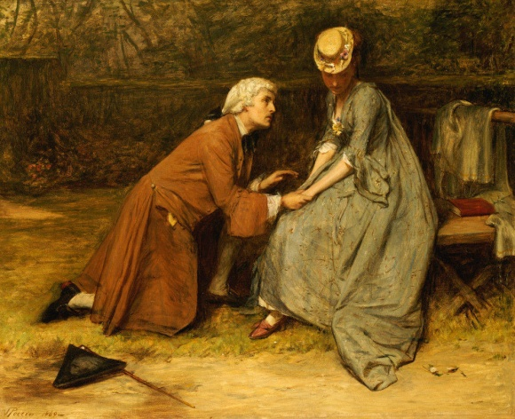 The Proposal. John Pettie, R.A. (1839-1893). Oil On Canvas, 1869.