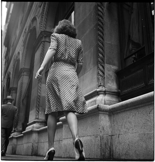 "New York 1946 ""Woman walking down the street"" Stanley Kubrick for Look Magazine New York City Magazine"